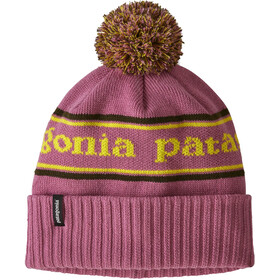 Patagonia Powder Town Beanie Jongens, park stripe knit/artifact pink